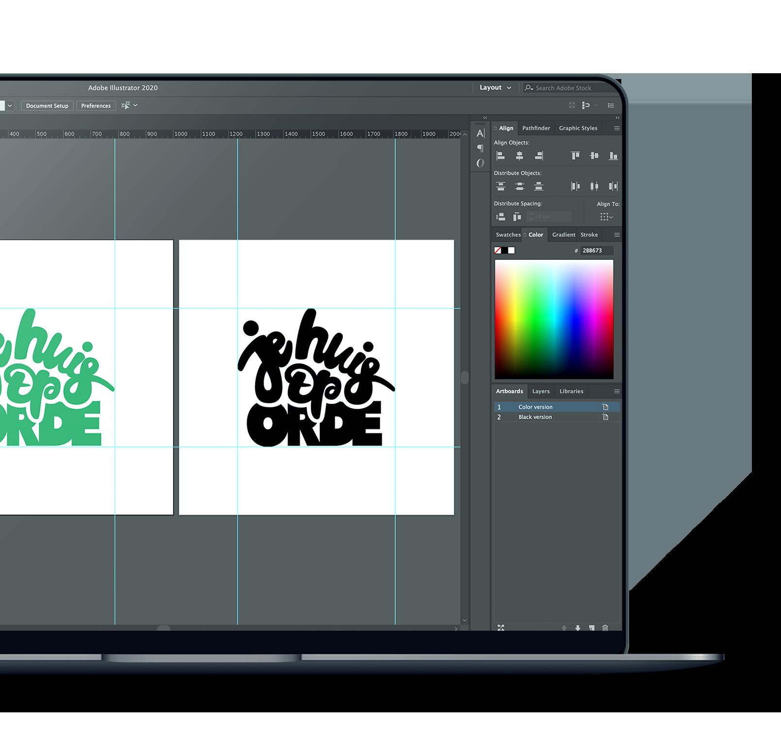 Logo ontwerp via illustrator